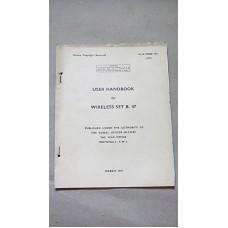 LARKSPUR WIRELESS SET B47 USER HANDBOOK