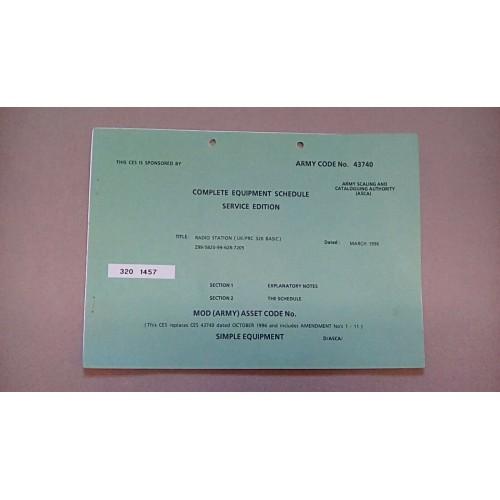 CLANSMAN CES CATALOGUE RADIO STATION PRC320