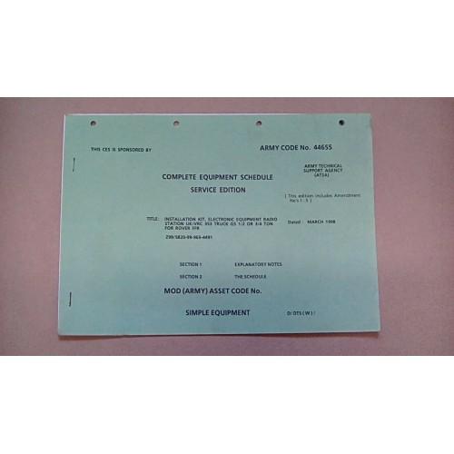 CLANSMAN CES CATALOGUE VRC353 INSTALLATION KIT ROVER 1/2 3/4 TON