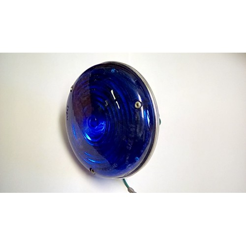 MILITARY BLUE EMERGENCY REPEATER LAMP  ROUND 5 INCH