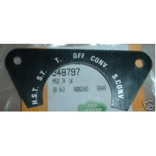 MILITARY 6 WAY LIGHTING SWITCH LABEL