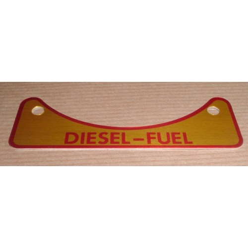 INSTRUCTION  PLATE DIESEL FUEL