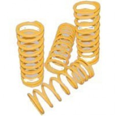 REAR COIL SPRINGS x2 YELLOW HIGH PERFORMANCE
