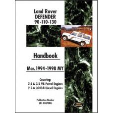 DEFENDER 90, 110, 130 MARCH 1994-1998 HANDBOOK