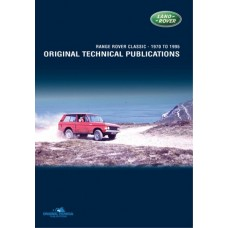 RANGE ROVER CLASSIC ORIGINAL TECHNICAL PUBLICATIONS DVD