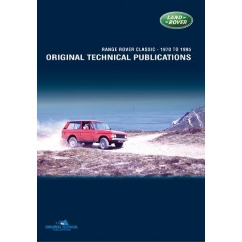 RANGE ROVER CLASSIC ORIGINAL TECHNICAL PUBLICATIONS DVD