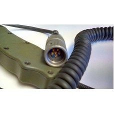 BOWMAN HANDSET GREEN COILED LEAD, US MIL SPEC 6 PIN