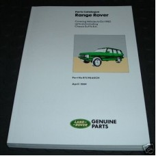 PARTS CATALOGUE RRC TO 1985