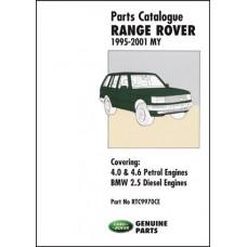RANGE ROVER PARTS CATALOGUE 1995-2001