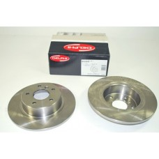 DELPHI REAR BRAKE DISC SOLID PAIR