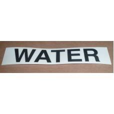 STOWAGE LOCKER WATER DECAL