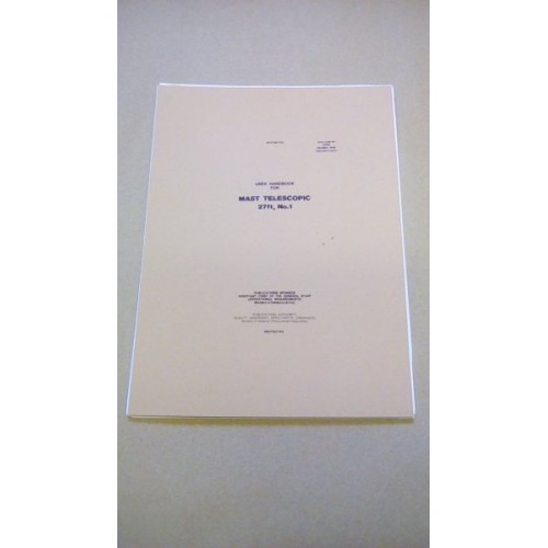 CLANSMAN USER HANDBOOK MAST TELESCOPIC 27FT N0.1