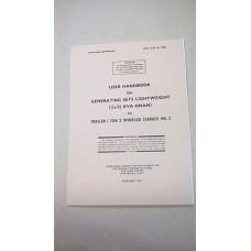 USER HANDBOOK GENERATOR LIGHTWEIGHT  3/.1/2 KVA ONAN