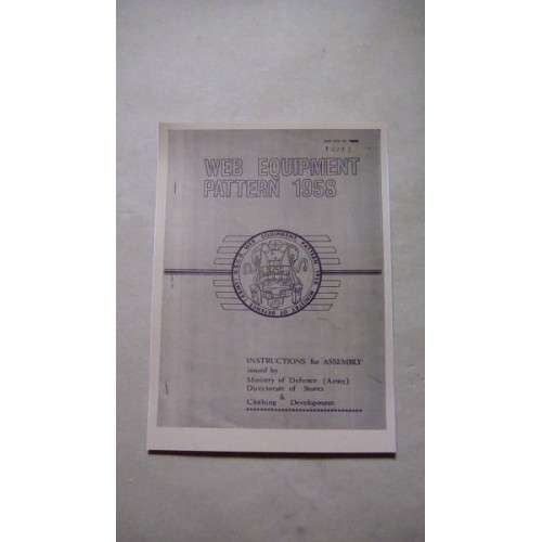 BRITISH ARMY 58 PATTERN WEBBING USER MANUAL