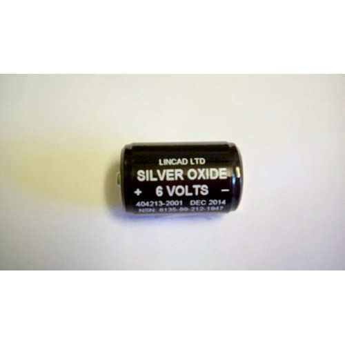BATTERY NON RECHARGEABLE  6V  SILVER OXIDE