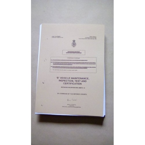 B VEHCILE MAINTENANCE INSPECTION TEST AND CERTIFICATION MANUAL