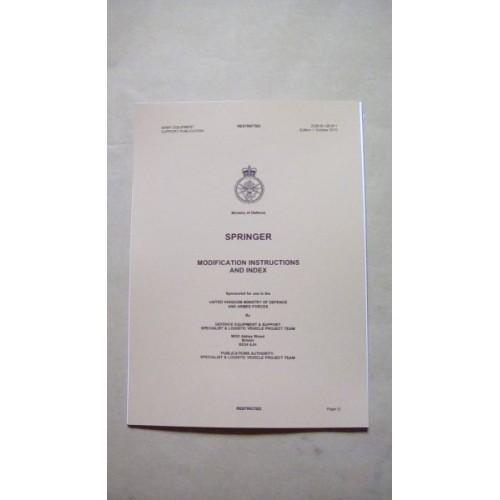SPRINGER VEHICLE MODIFICATION INSTRUCTIONS