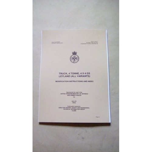 TRUCK 4 TON LEYLAND/DAF MODIFICATION INSTRUCTIONS