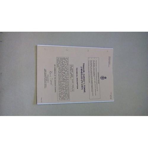 SANKEY TRAILER TECHNICAL DESCRIPTION MANUAL (FV2361)