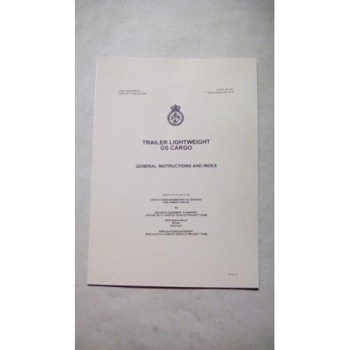 PENMAN TRAILER LIGHTWEIGHT GS CARGO GENERAL INSTRUCTIONS