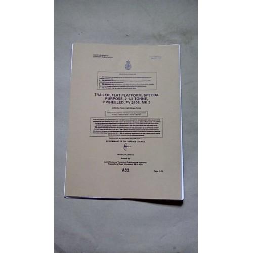 TRAILER FLAT PLATFORM FV2406  OPERATING INFORMATION