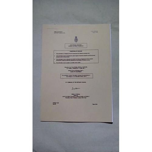 TRAILER FLAT PLATFORM FV2406 INSPECTION STANDARDS