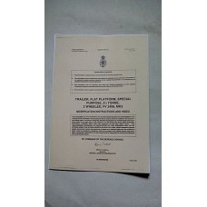 TRAILER FLAT PLATFORM FV2406 MODIFICATION INSTRUCTIONS