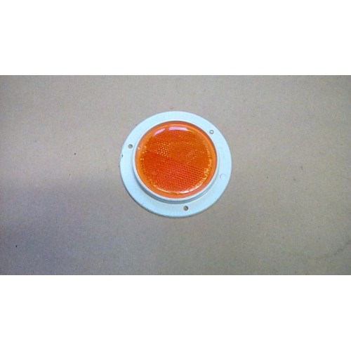 MILITARY ROUND REFLECTOR AMBER