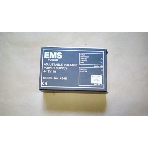 EMS ADJUSTABLE POWER SUPPLY 4-12V 1 AMP