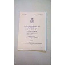 SANKEY WATER BOWSER OPERATING INFORMATION MANUAL