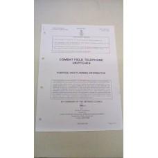PURPOSE AND PLANNING COMBAT FIELD TELEPHONE PTC414