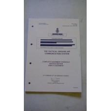 UK/PRC346 COMPLETE EQUIPMENT SCHEDULE SERVICE EDITION MANUAL
