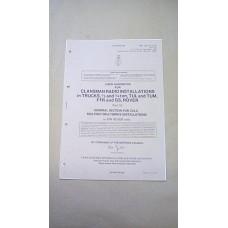 USER HANDBOOK CLANSMAN ZULU MULTI SET INSTALLATION