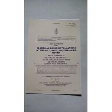 USER HANDBOOK CLANSMAN INSTALLATION VRC321  PRC344 VRC353Z DM BOX