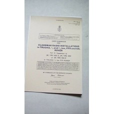 USER HANDBOOK CLANSMAN INSTALLATION  VRC322, VRC353Z, VRC353