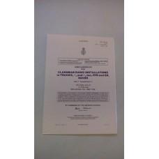 USER HANDBOOK CLANSMAN INSTALLATION UK/PRC351/2