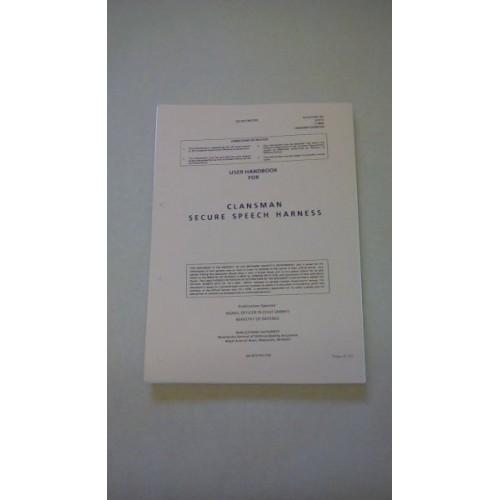USER HANDBOOK CLANSMAN SECURE SPEECH HARNESS