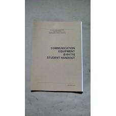 COMMUNICATION EQUIPMENT STUDENT HANDOUT MANUAL (USA)