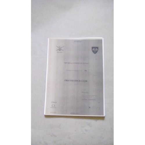 PTARMIGAN TRIFFID OPERATOR INSTRUCTIONS